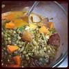 Spanish Sausage, Lentil, Kale Soup