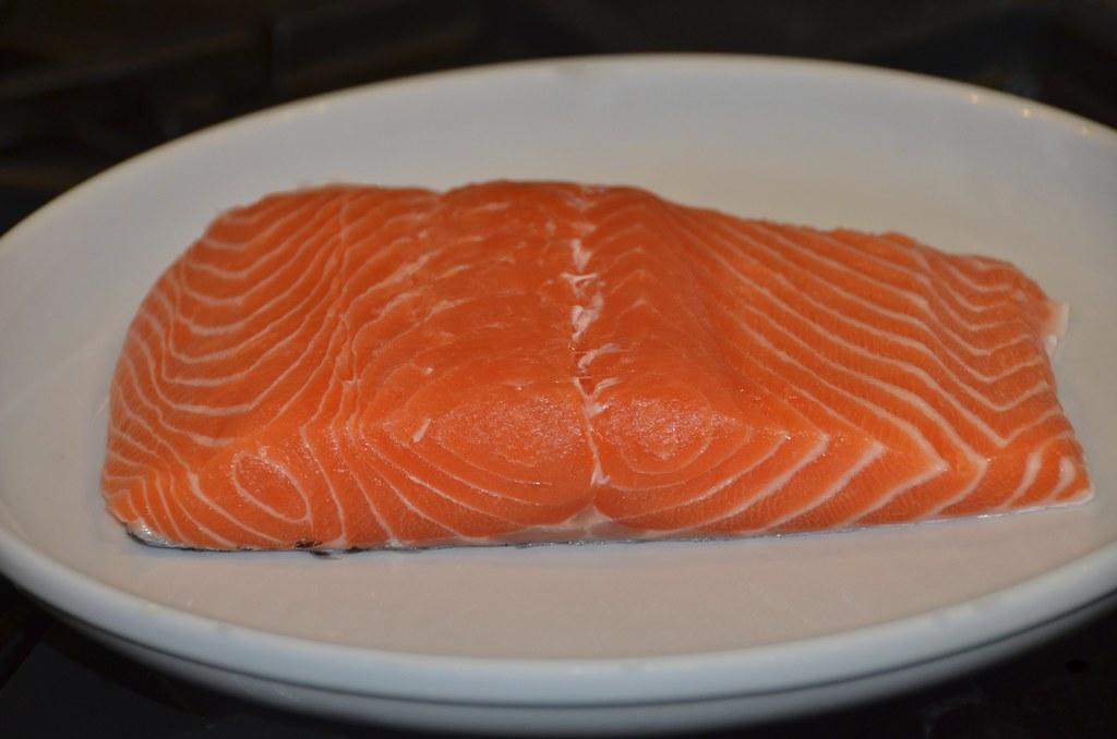 Salmon with Lemon Dill Caper Sauce