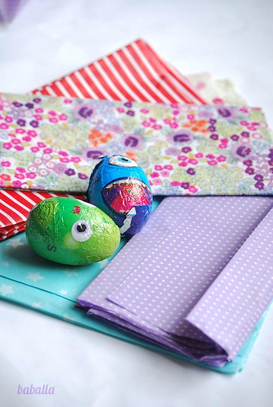 Decorar los huevos de Pascua con papeles - Manualidades de papel y ...