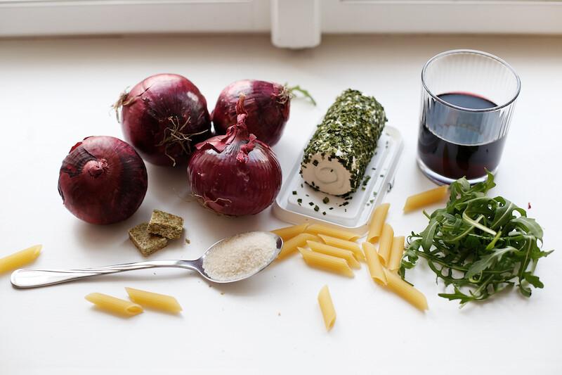 Pasta mit Zwiebelconfit (2)