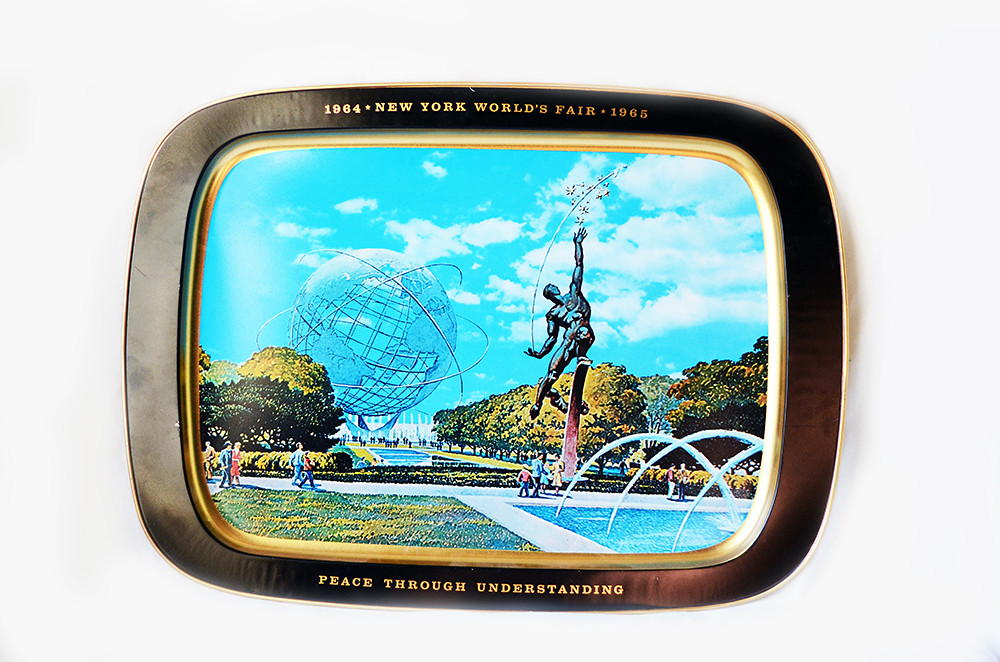 Vintage New York World's Fair Metal Tray