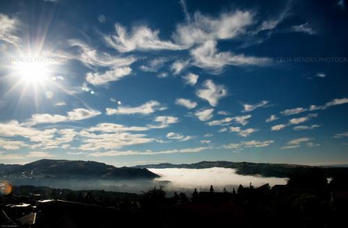 blue newzealand sky sun sol azul clouds landscape silhouettes cityscapes paisaje paisagem céu cielo nubes nuvens novazelândia nuevazelanda silhuetas 2013