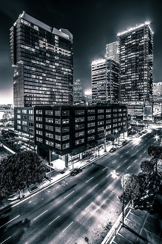 california skyscraper landscape losangeles downtown cityscape 1022mm dtla staplescenter downtownlosangeles 717olympic canon7d southparklosangeles watermarketower tower777 ©shabdrophoto