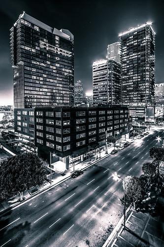 california skyscraper landscape losangeles downtown cityscape 1022mm dtla staplescenter downtownlosangeles 717olympic canon7d southparklosangeles watermarketower tower777 ©shabdrophoto