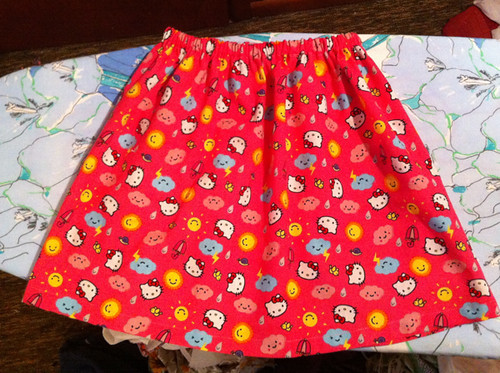 the first-draft half-yard Easter skirt