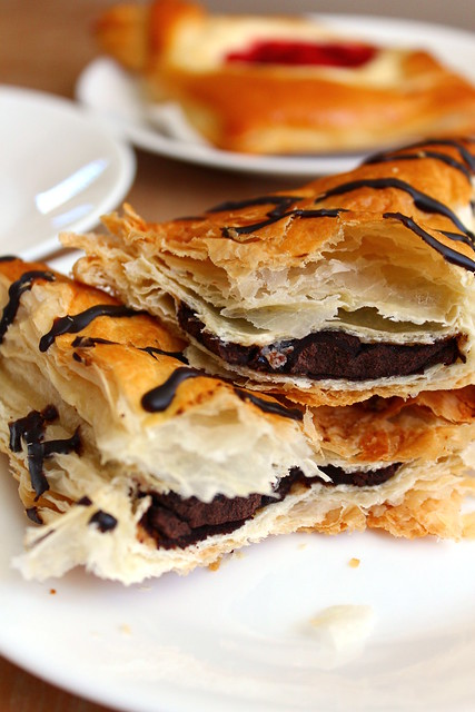 Chocolate Mini Pie Crossiant innards