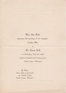 Nolte wedding announcement