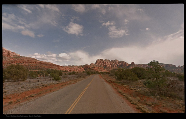 Toward Red Rock State Park, Sedona, Arizona - Google Maps Redux