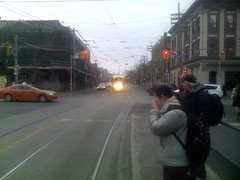 PCC streetcar at Queen West and Bathurst (1)
