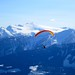 Small photo of Paraskier above the Mountains