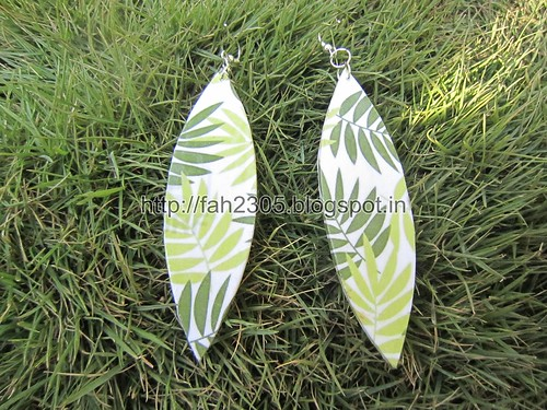 Handmade Jewelry - Card Paper Earrings  (42) by fah2305