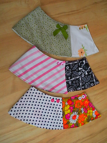 Reversible Doll Wrap Skirts