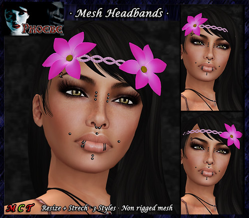 *P* Mesh Braided Headband ~Pink~