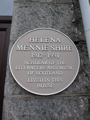 Photo of Helena Mennie Shire yellow plaque