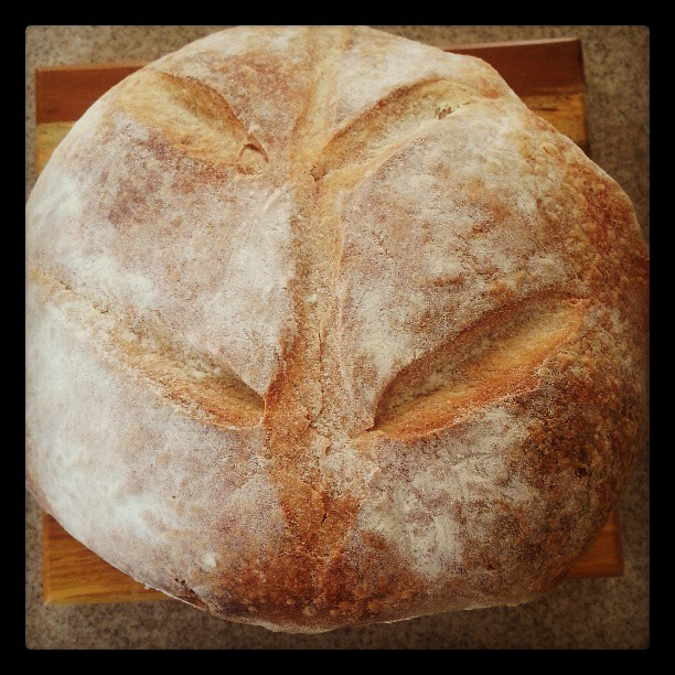 Beautiful bread from flour