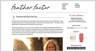 Interview with Carin Olsson (Paris in Four Months) on Feather Factor