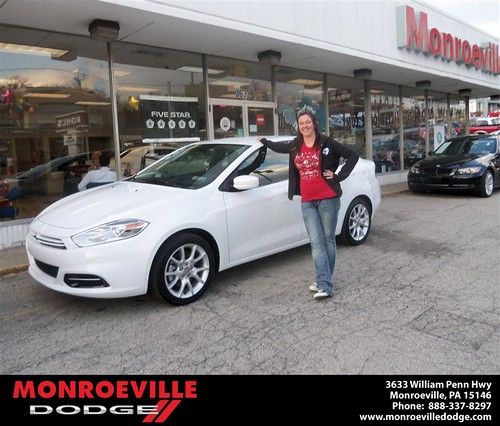 Monroeville Dodge would like to say Congratulations to Melanie Kocsis on the 2013 Dodge Dart by Monroeville Dodge