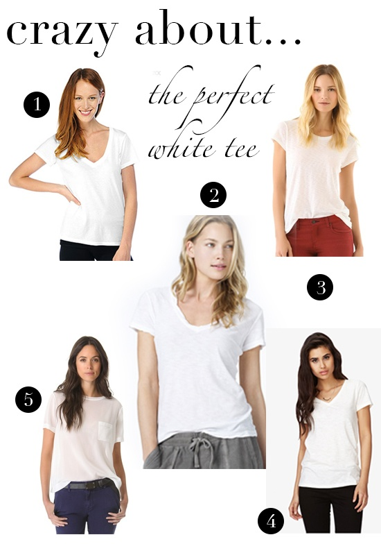 crazy for layout-perfect white tee