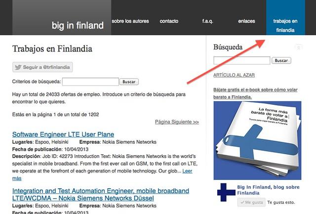 Listado de ofertas de trabajo en Finlandia