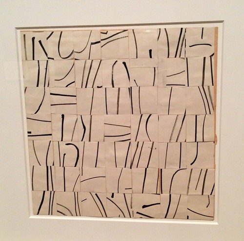 Ellsworth Kelly, Brushstrokes Cut Into 44 Squares and Arranged by Chance, 1951