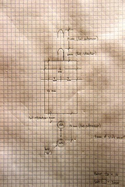 Latch plan dimensions