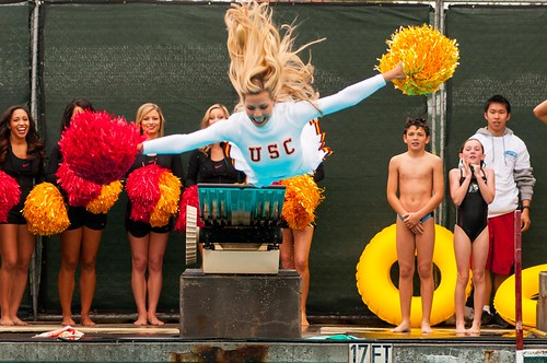 USC Song Girls Swimming At A Charity Event - Sports Mashup
