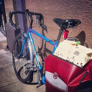 Day 15; sneaking out of the office to buy beans in the sun #30daysofbiking #portlandcoffeeroasting