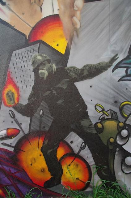 War / conflict theme - Adelaide street art