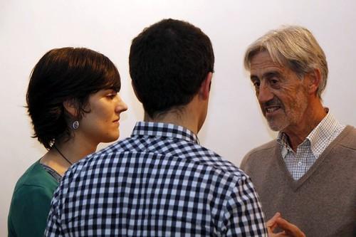 Bego Maite Jiménez Ocio y Koldo Saratxaga ante el G30
