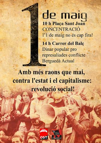 cartell 1 de maig a berga 2013