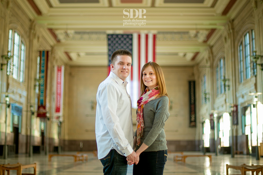 Union Station Kansas City engagement session