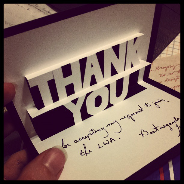 Handmade, pop-up thank you card.   Flickr - Photo Sharing!