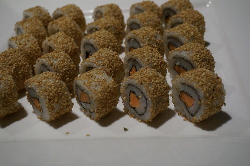 B.C. salmon sushi rolls