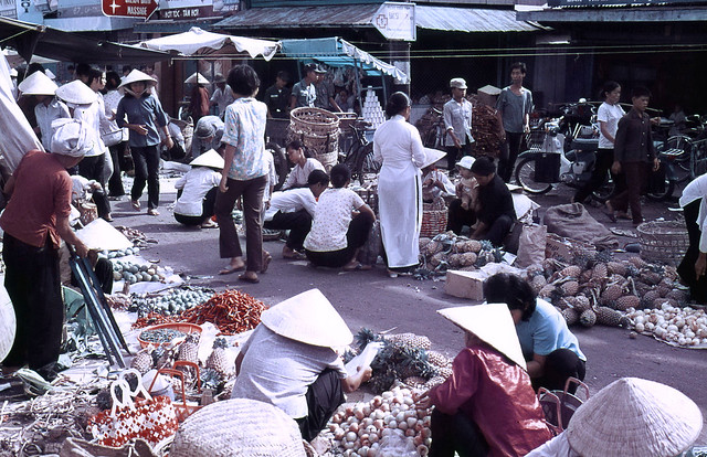 One of Vung Tau's Markets 1969-70 - Photo by Ian Douglas