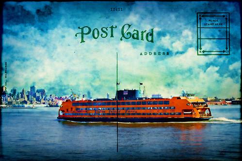 newyorkcity orange newyork texture water ferry photoshop canon bay cityscape statenislandferry texturedlayers canoneosdigitalrebelxsi tatot magicunicornverybest jackaloha2 photoshopcs5 vigilantphotographersunite vpu2