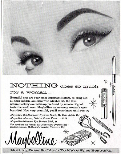 maybelline eye make up ad by CapricornOneVintage