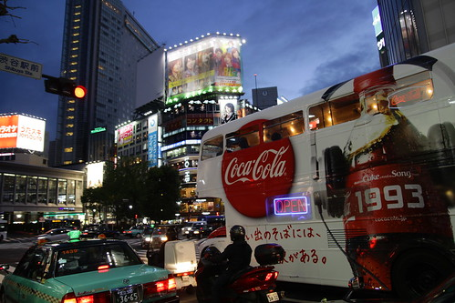 Coca-cola bus in Shibuya