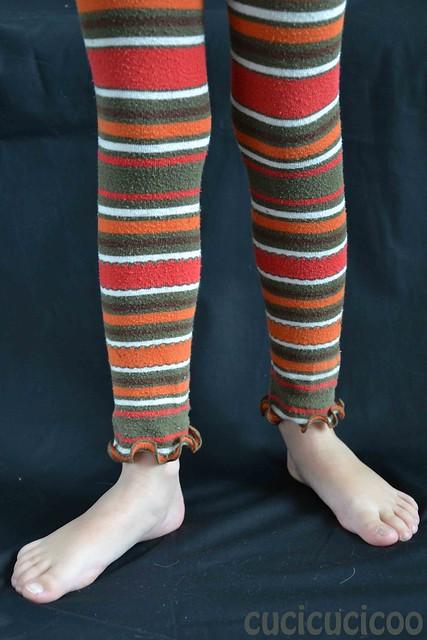 turning outgrown tights into fun leggings