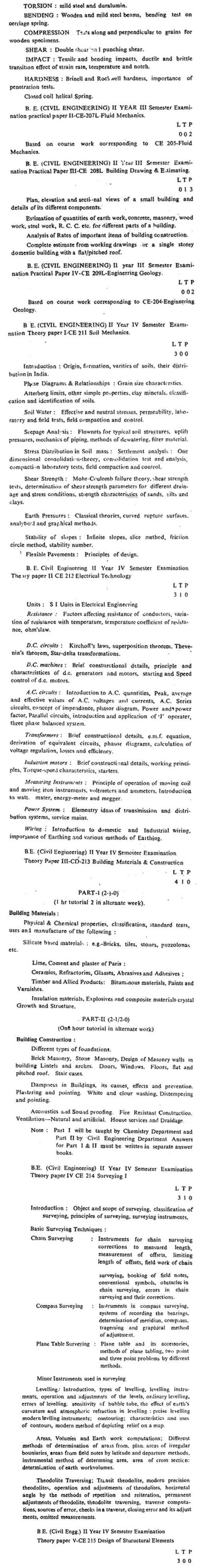 DTU Syllabus - Civil Engineering