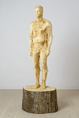 <strong>The Tainted - </strong> <br />Aron Demetz, Proposta KR 150, 2013, Limewood, 75 cm x 60 cm x 235 cm