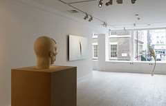<strong>The Tainted - </strong> <br />Installation view: Aron Demetz, Front, 2012, Shan Hur, Crack on the Wall #1, 2013, Shan Hur, Tree #4 (Pacho), 2013