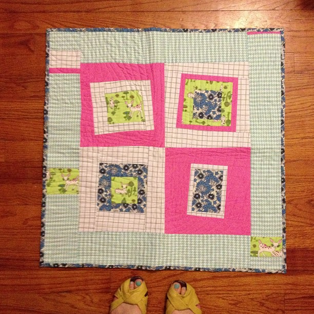 A perk of deep cleaning: finding things you forgot making #quilting #vintagemodernquilts