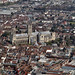 Canterbury Cathedral Aerial by John D F