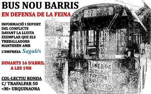 Conflicte laboral a l'empresa Bus Nou Barris(Sagalés) , a Barcelona