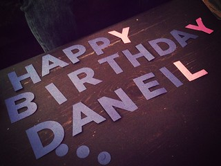 Daniel's birthday sign