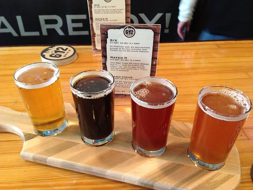 Birthday flight at @612brew in Minneapolis.