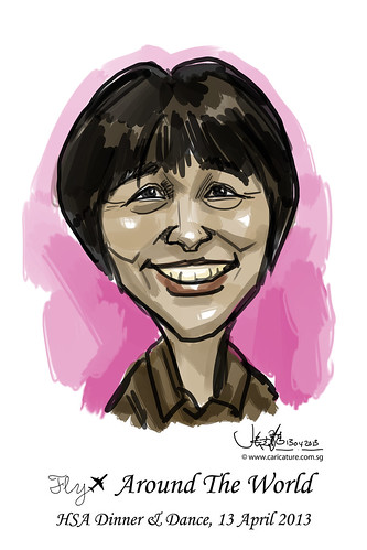digital live caricature for HSA D&D 2013 - 5