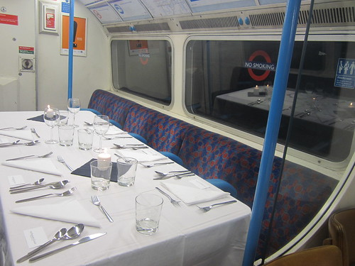 Underground Carriage set for dining