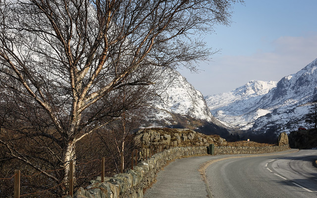 The Llanberis Pass In The Snow