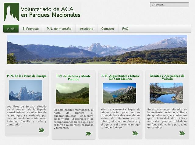 Web ACA en Parques Nacionales